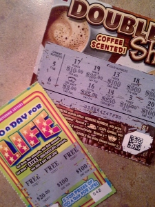 Marvelous is winning $4.00 and a free lottery ticket!