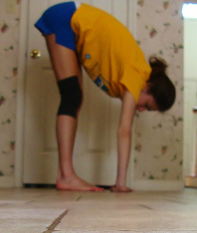 When Bending At The Waist, With The Knees Straight, The Child Or Young  Adult Can Put His Or Her Palms Flat On The Floor.